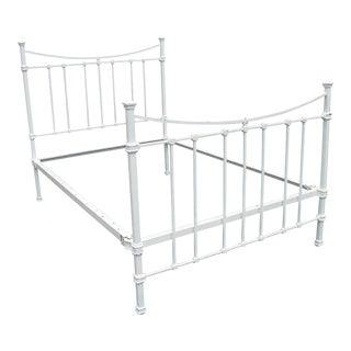 White Wrought Iron Full Bed Frame