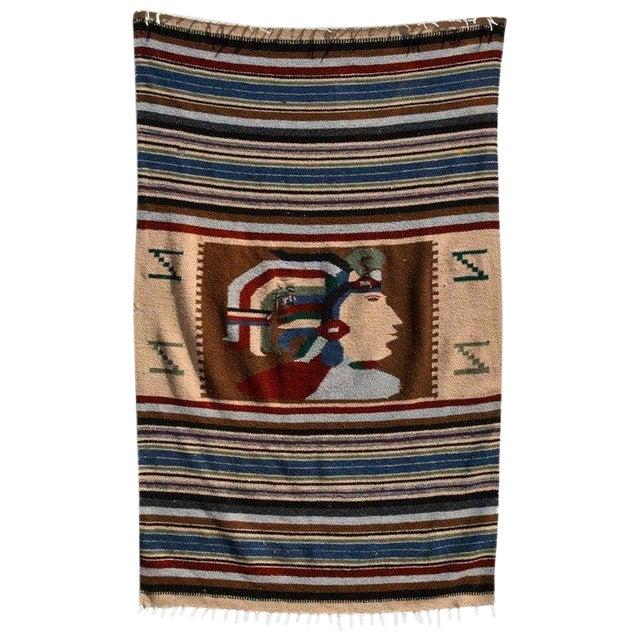 Vintage Indian Blanket, Wall Tapestry Decoration For Sale