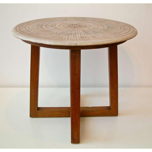 Mid 20th Century Design Technics Ceramic and Walnut Table For Sale - Image 5 of 8