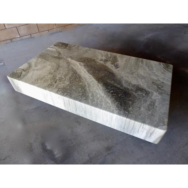 Italian Faux-Marble Rectangular Coffee Table C. 1970s For Sale - Image 12 of 12