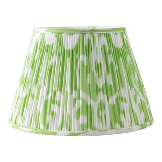 "Soft Ikat in Pear 14"" Lamp Shade, Light Green For Sale"