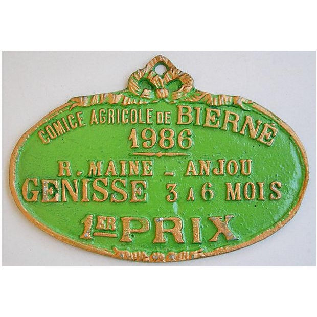 French Trophy Award Plaque, 1986 - Image 2 of 3