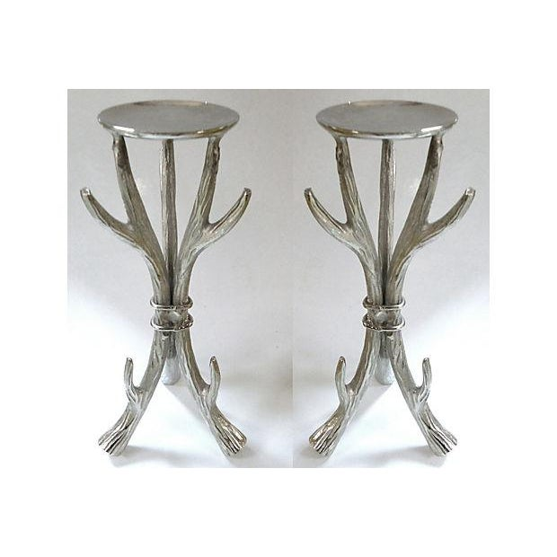 Antler Form Candle Holders - a Pair - Image 2 of 6