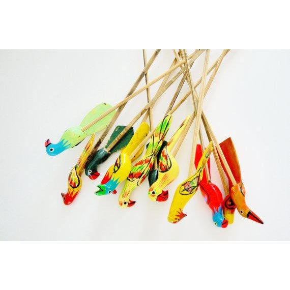 Birds of Paradise Cocktail Stirrers - Set of 12 - Image 6 of 6
