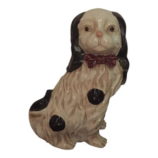 Staffordshire Spaniel Ceramic Figurine For Sale