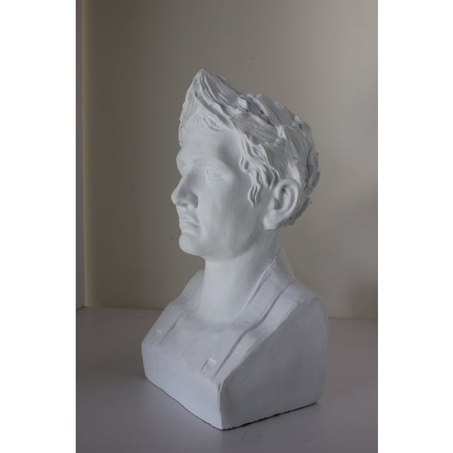 Male Bust with Laurel Wreath. A great shelf accent!