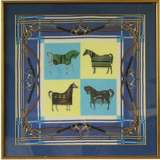 "Framed Equestrian Scarf"" For Sale"