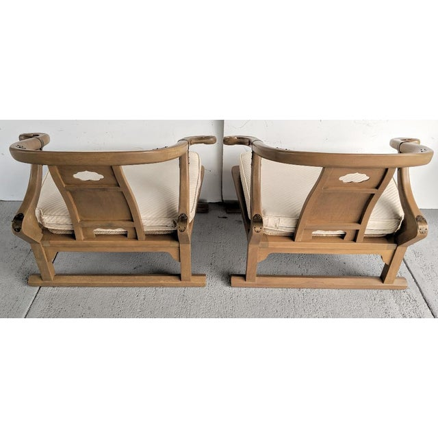 """1960s Baker Furniture, Michael Taylor - Oriental Lounge Chairs, """"Far East Collection"""", 1960's / a Pair For Sale - Image 5 of 13"""