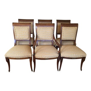 1950s Vintage Upholstered Dining Chairs - Set of 6 For Sale