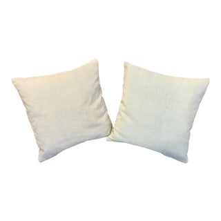 Crate & Barrel Light Aquamarine Pillows - a Pair For Sale