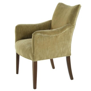 Sweden 1950s Gold Chenille Upholstered Armchair by Carl Malmsten For Sale