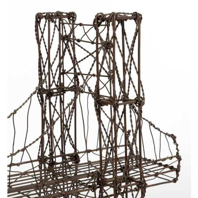 For your consideration is a gorgeous, wire bridge table sculpture, circa the 1960s 1970s. In great condition. The...