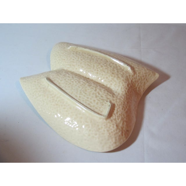 Mid Century Beige and Gold Ashtray - Image 6 of 7