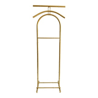 Vintage Gold Metal Faux Bamboo Style Valet