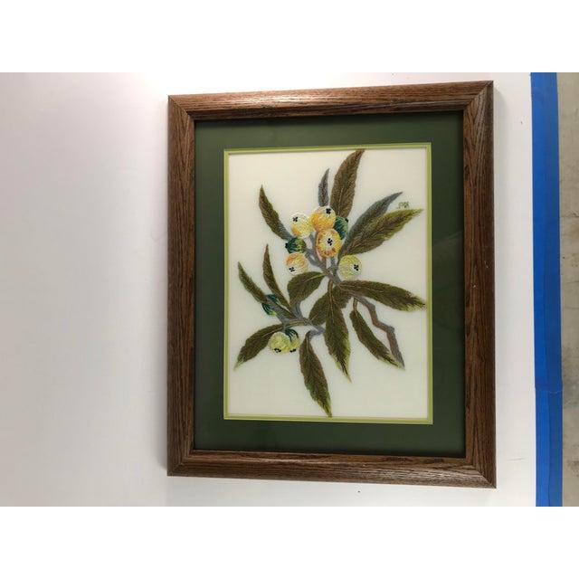Wood Handmade Needlepoint Eucalyptus Branch Art For Sale - Image 7 of 7