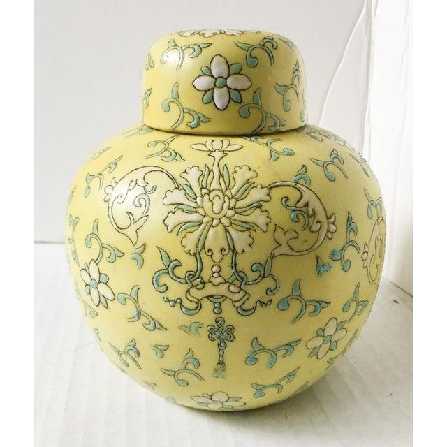 Pretty Little Yellow Hong Kong Ginger Jar - Image 2 of 7