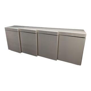 Lacquered Italian Sculptural Wave Front Credenza