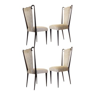 Set of Four Chairs Attributed to Paolo Buffa For Sale