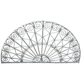 Victorian White Iron Gate Panel