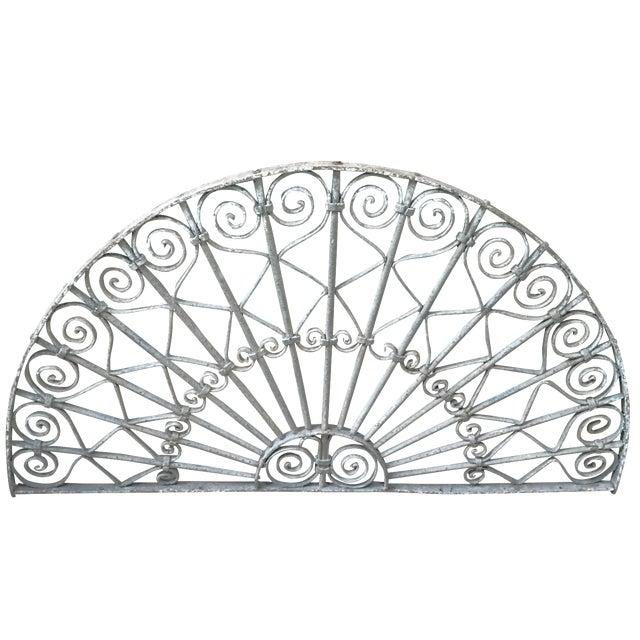 Victorian White Iron Gate Panel - Image 1 of 3