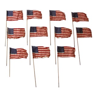 48 Star American Parade Flag Collection - Set of 11