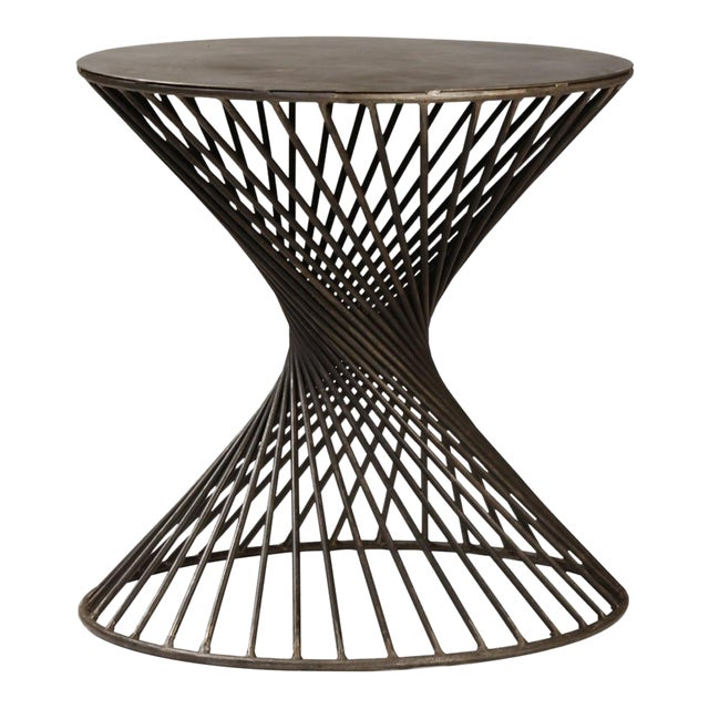 Iron Twist Side Table For Sale