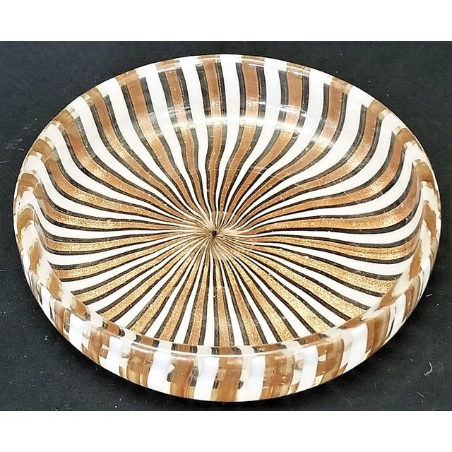 Copper 1950s Vintage Murano Copper and White Glass Bowl by Fratelli Toso For Sale - Image 8 of 8