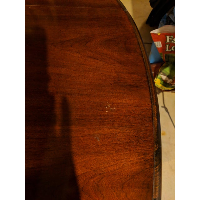 Late 20th Century Queen Anne Style Side Table For Sale - Image 5 of 6