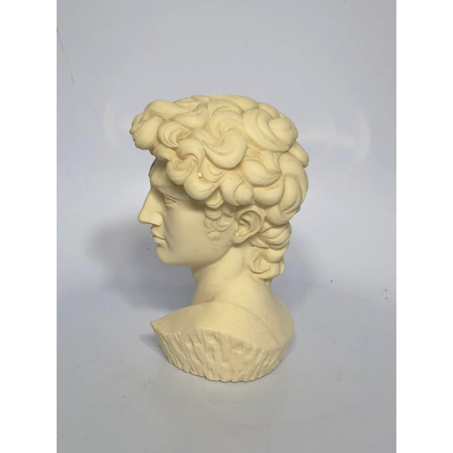 Vintage Mid-Century Neoclassical Style Bust of David Sculpture For Sale - Image 4 of 7