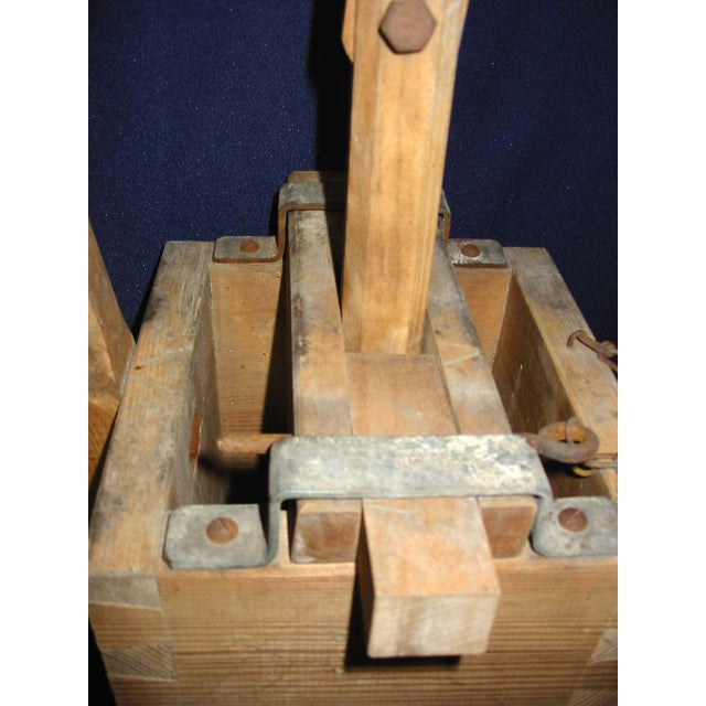 1900 Rustic Pine Laundry Press - Image 3 of 3