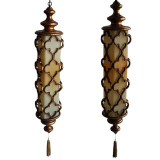 Moorish Inspired Lanterns - A Pair
