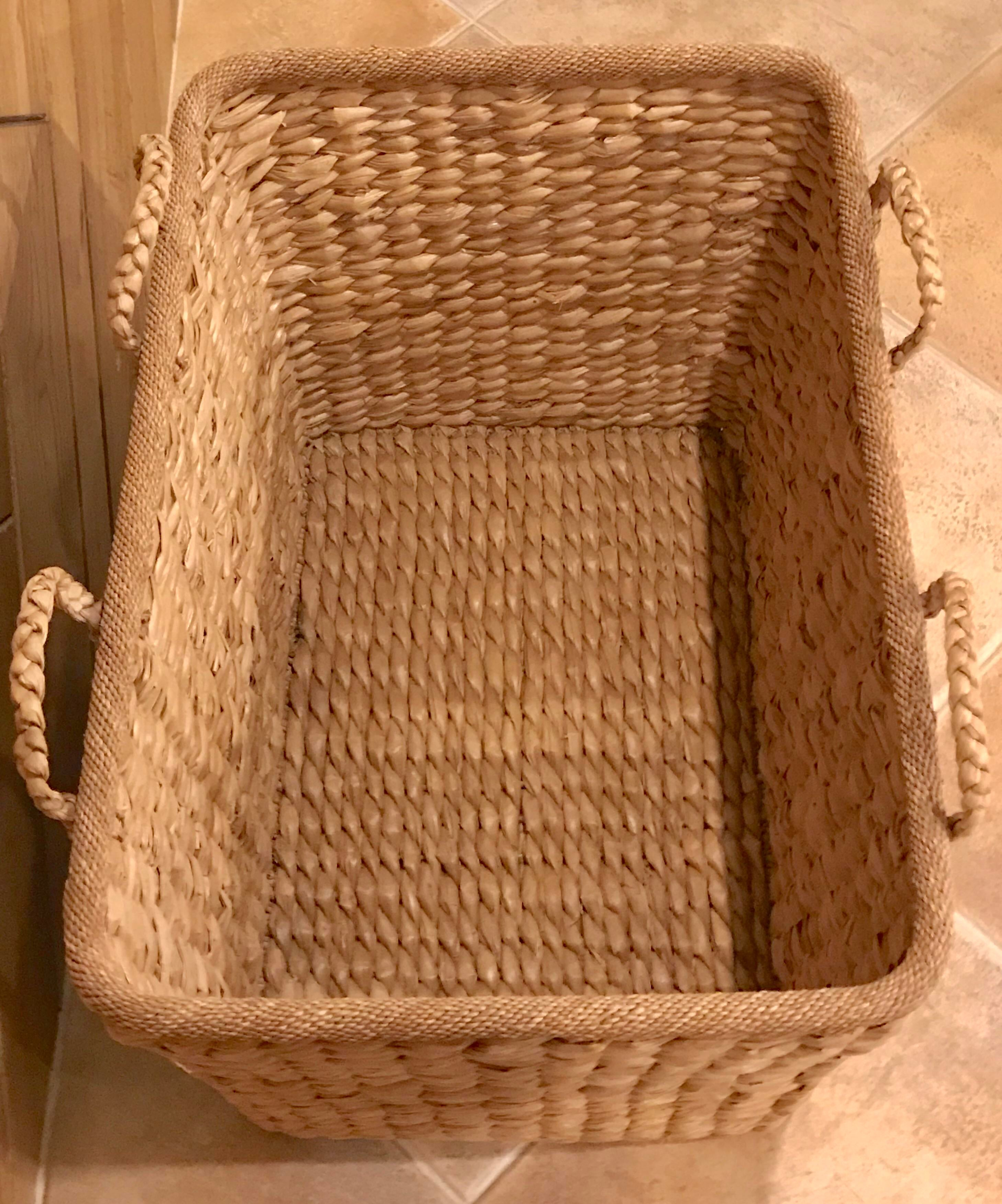 Large Rectangular Storage Basket For Sale   Image 4 Of 5