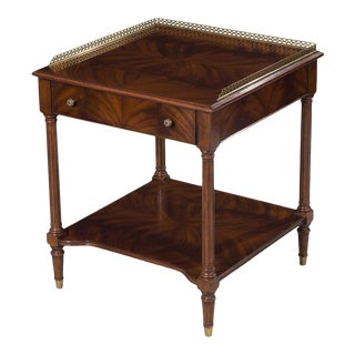 Scarborough House Crotch Mahogany Bedside Table For Sale