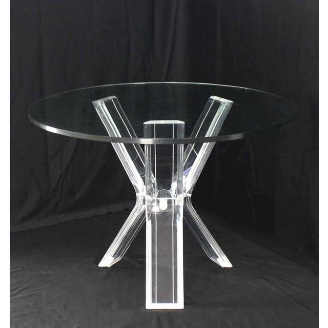 Lucite Four Chairs Table Dinette Set For Sale - Image 4 of 9