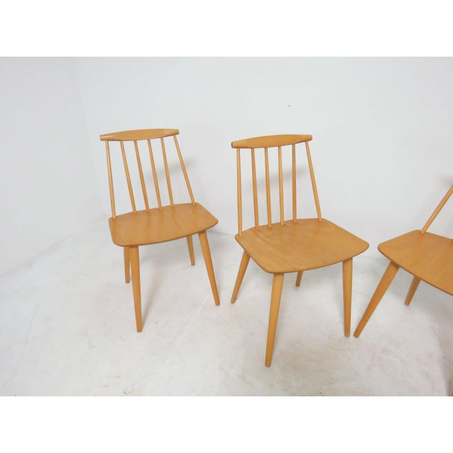 Set of four dining chairs designed by Folke Palsson for FDB Mobler, Denmark, circa 1975.