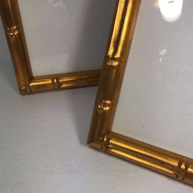 Pair of Gold Gilt Bamboo Frames - Image 10 of 11