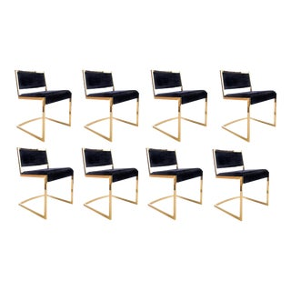 Bradley Gold Chrome Dining Chairs - Set of 8