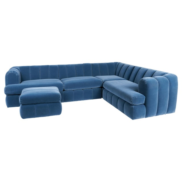 Jay Spectre Channeled Sectional Sofa