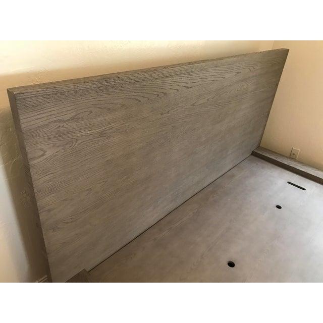 Oak Van Thiels for Restoration Hardware Oak King Machinto Bed For Sale - Image 7 of 11