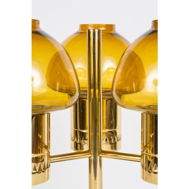 Amber Hans-Agne Jakobsson Candelabrum for Markaryd For Sale - Image 8 of 9