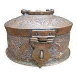 Image of Antique Copper Pakistani Spice or Pan Presentation Box For Sale