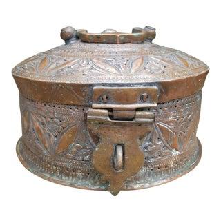 Antique Copper Pakistani Spice or Pan Presentation Box For Sale
