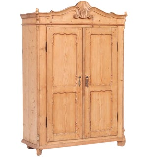 European Pine Armoire For Sale
