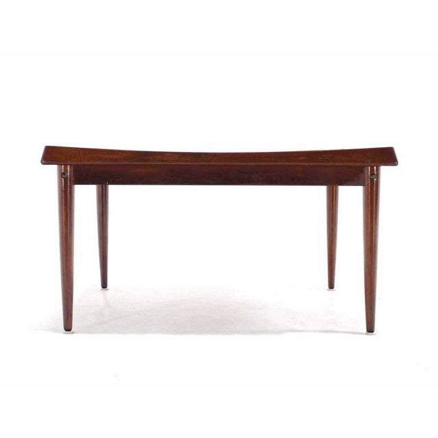 Early 20th Century Danish Modern Teak Square Rolled Edge Coffee Table For Sale - Image 5 of 9