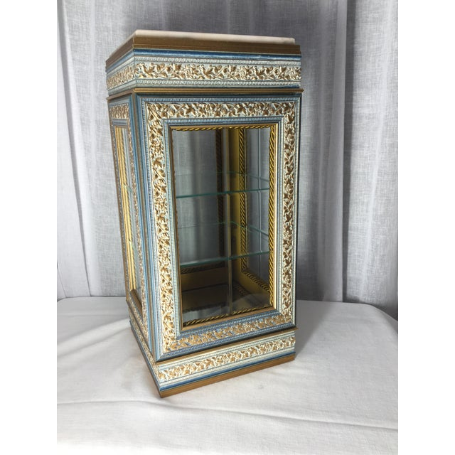 Italian Tabletop Display Case With Marble Top For Sale - Image 4 of 7