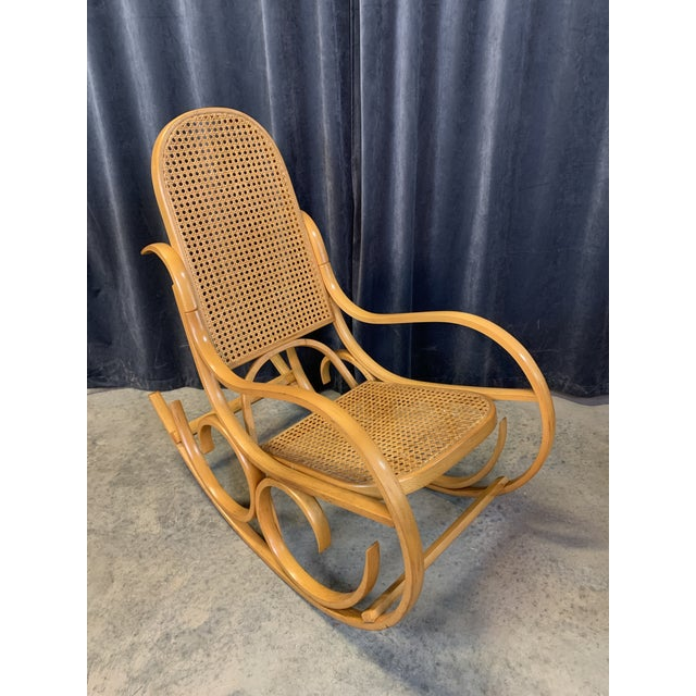 Wood Vintage Mid Century Crassevig Bentwood Rocking Chair For Sale - Image 7 of 7