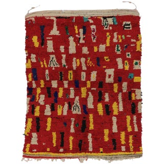 20th Century Moroccan Berber Rug - 4′9″ × 5′9″ For Sale