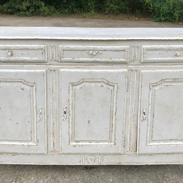 18th Century Country French Louis XVI Painted Buffet For Sale In Dallas - Image 6 of 13