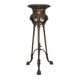 Grand Tour Table Pedestal Neo Classical Roman Bronze For Sale