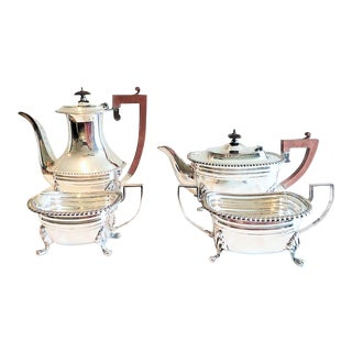 Early 20th Century Silver on Copper Coffee and Tea Set of 4 For Sale